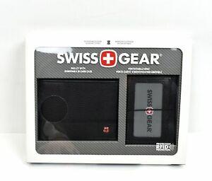 Swiss Gear AFID SAFE Genuine Leather Bifold Wallet w/ Removable ID Card Case