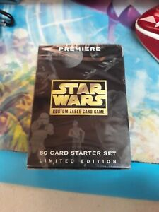 NEW Star Wars PREMIERE Limited Edition 60 Card STARTER SET (SEALED) w/Extra Deck