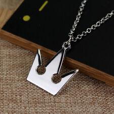 Cafiona Kingdom Hearts Sora Cosplay Accessories Silver Pendant Necklace Jewelry