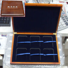 Solid Wood Display Box For 6 Certified Coin Holder Case Slab PCGS or NGC ☆