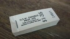 OLD 1980s NSW RAILWAY BUS TRAM BLOCK OF 200 TICKETS, NSW OMNIBUS $1.35