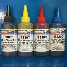 4x Refill Ink Bottles for Epson EcoTank ET1400 ET2500 ET2550 Printer Inks ing s