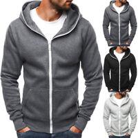 Men's Outwear Sweater Winter Hoodie Warm Coat Jacket Hooded Sweatshirt Zipper