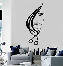 Vinyl Wall Decal Hair Salon Scissors Stylist Beauty Hairdresser Stickers ig4532