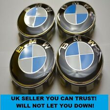 4 BMW 68mm Centre Caps With 65mm Clips To Fit 3 Series , E46 E36 E30 E90 E21