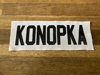 KONOPKA Game Used Worn Ottawa Senators White Jersey Nameplate