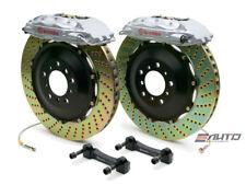 Brembo Rear GT BBK Brake 4pot Caliper Silver 380x32 Drill Disc Hummer H2 08-09