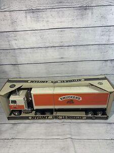Vintage NYLINT GMC 18 WHEELER - SMUCKERS JAMS & JELLIES, Semi Truck,