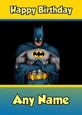 Personalised Birthday Card - Batman - Childrens Kids Boy Son Grandson Nephew