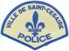 Ville de Saint-Cesaire Police, Quebec, Canada HTF Uniform/Shoulder Patch