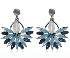 2018 New Fashion Blue Crystal Rhinestone Ear Drop Dangle Stud Earrings Gift 856