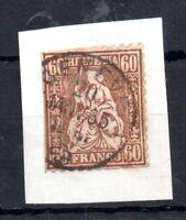 Switzerland 1862 60c SG59 fine CDS used (on paper) WS11337