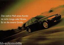 Prospekt Saab 95 Kombi Das wahre Maß 1999 Autoprospekt Prospektanforderung