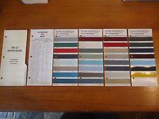 Datsun Nissan 1966 Original Berger Paint Colour Chip Charts Mix Formula