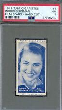 1947 TURF Cigarettes Card #7 INGRID BERGMAN Casablanca ANASTASIA Notorious PSA 7