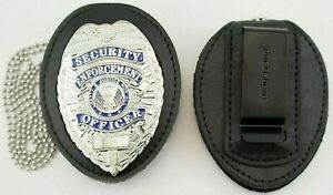 Heros Pride 9150T Universal Shield Leather Badge Holder Neck Chain and Clip NEW