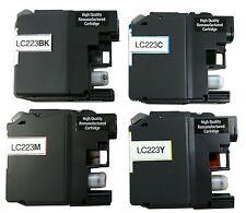 4x Druckerpatronen für original Brother LC223 MFC J4420DW J4620DW wiederbefüllt