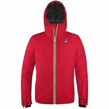 Cappotti e giacche da uomo impermeabile con cappuccio rosso