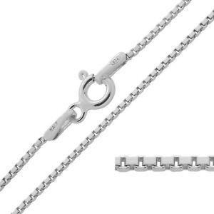925 Sterling Silver BOX Chain Necklace Variety of Lengths Available