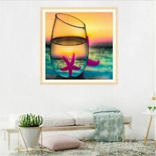 Diy Diamond Painting Starfish Portrait In A Glass Design Embroidery House Decors