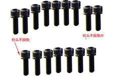6PC BLACK Titanium Cylindrical head chamfering Screws Bolts With Spacer