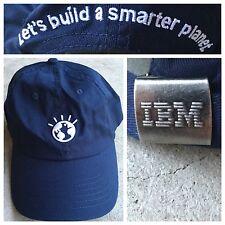 NWOT IBM Computer BUILD SMARTER PLANET Dad VAPORWAVE Strapback Cap VTG Hat Geek