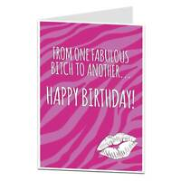 Happy Birthday Card For Best Friend BFF Her Women Or Any Fabulous Bitch!