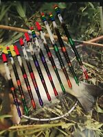 X10 Handmade Porcupine Quill Waggler Floats Vintage Traditional Carp Tench Roach