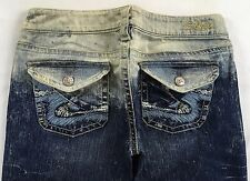 SILVER JEANS SALE Buckle Super Low Rise Tuesday Ombre Flare Stretch Jean 28 X 33