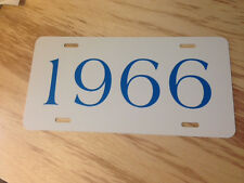 1955 1956 1957 1958 1959 1960 1961 1962 1963 1964 1965 1966 TAG  LICENSE PLATE