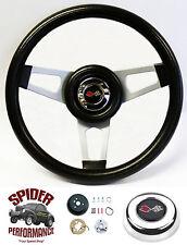 """1968-1972 Corvette steering wheel CROSSED FLAGS 13 3/4"""" Grant steering wheel"""