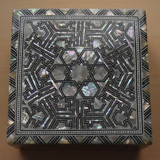 NEW Deluxe Handmade Egyptian Mother of Pearl Inlay Box, Gorgeous - Velvet Lining