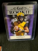 2019 Leaf Rookie Drew Lock #6/10 Rookie RA-01 Denver Broncos SN# 6/10 Missouri