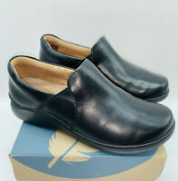 Clarks Unstructured Leather Slip-On Shoes - Un Loop 2 Step BLACK LEATHER US 7.5W