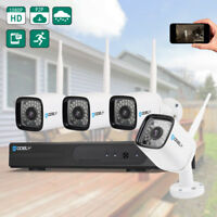 Wireless 4CH 1080P NVR WIFI HD Outdoor IR-CUT Cameras Security CCTV Video System