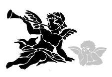 SHABBY CHIC VINTAGE STENCIL SCHABLONE ANGEL ENGEL XMAS LEINEN MÖBEL WAND TRUHE