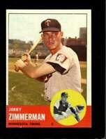1963 TOPPS #186 JERRY ZIMMERMAN EXMT TWINS *SBA3851