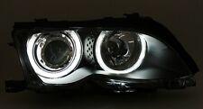 LED Angel Eyes Scheinwerfer Set für BMW E46 Coupe + Cabrio CCFL Schwarz Lampe