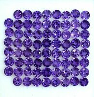 NATURAL AMETHYST 3 MM ROUND CUT CALIBRATED FACETED LOOSE GEMSTONE WHOLESALE LOT