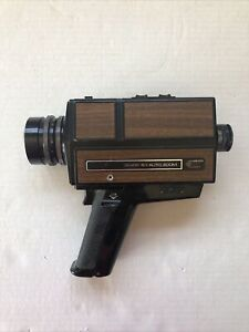 Sears Super 8 Camera- 5/1 Auto Zoom- F=8.5-40mm- Wood Panel- Zoom Works W Bat