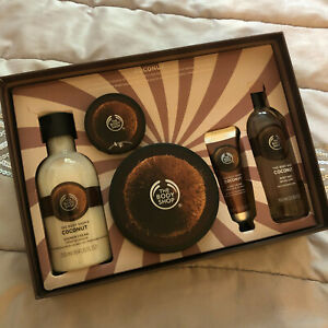 BODY SHOP COCONUT COLLECTION GIFT SET 5 ITEMS BUTTER/SCRUB/CREAM - BRAND NEW