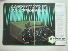 2/85 PUB THOMSON-CSF TELECOMMUNICATION RADIO TRC950 ELECTRONIC WARFARE GERMAN AD