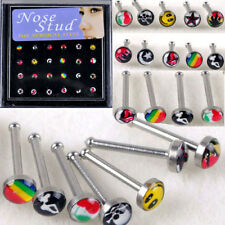 24pcs Wholesale Body Jewelry Mix Lots Nose Stud Piercing Display Earrings Box