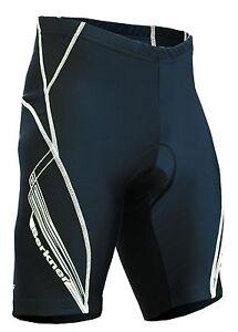 Berkner Cycling Shorts Bikehose with Insert/Seat Cushion Black - White