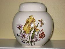 MASON'S GINGER JAR Hand painted Ironstone England Floral Butterflies Iris Mint