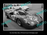 OLD HISTORIC PHOTO OF NEW YORK MOTOR SHOW 1970 FERRARI 512S CAR DISPLAY