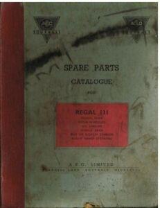 AEC REGAL MkIII SINGLE DECKER BUS CHASSIS 1947- ORIGINAL FACTORY PARTS CATALOGUE