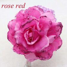 NEW 15CM Corsage Hairband Wrist Flower Wedding Party rose red Rose Headdress
