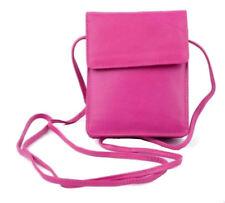 Golunski 1008 New Cross Body Soft Leather Small Travel Crossover Bag Bright Pink