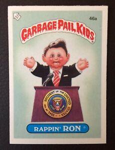 Rappin Ron 46a UK Garbage Pail Kids Series 2(1986) Puzzle Piece Back~NMT/MINT